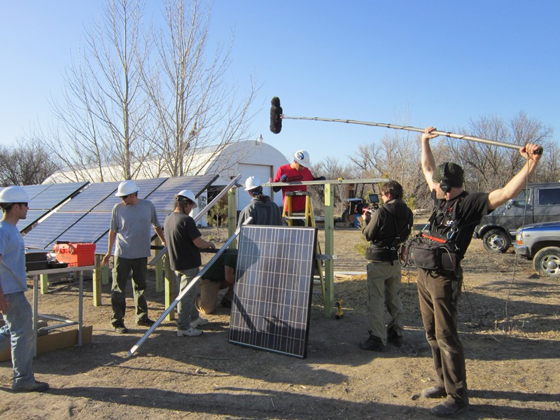 Film crews for solar pv training