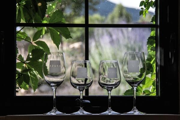 Azura Cellars wine glasses