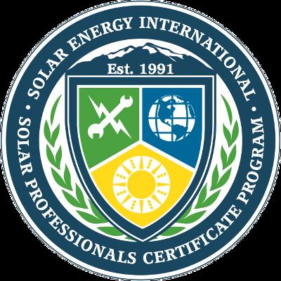 sei solar professionals certificate program - solar training - solar