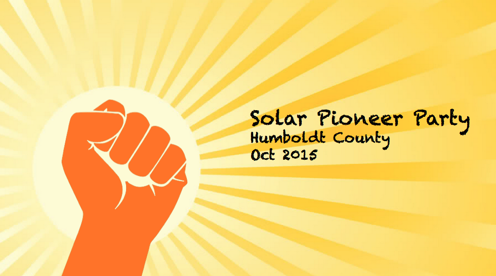 "... Jeff Spies – Proudly Announces the First ""Solar Pioneer Party"
