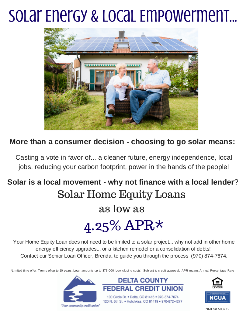 Solarize Delta County Solar Training Installer Wiring Instructions For Community Credit Union Here Are Some Of The Local Options Available To You Scroll Down See All