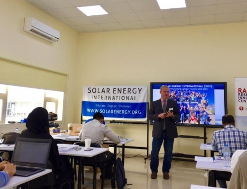 Solar Energy International (SEI) Leads PV101 in the UAE!