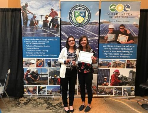 Solar Energy International honored with Solar Energy and Storage Award
