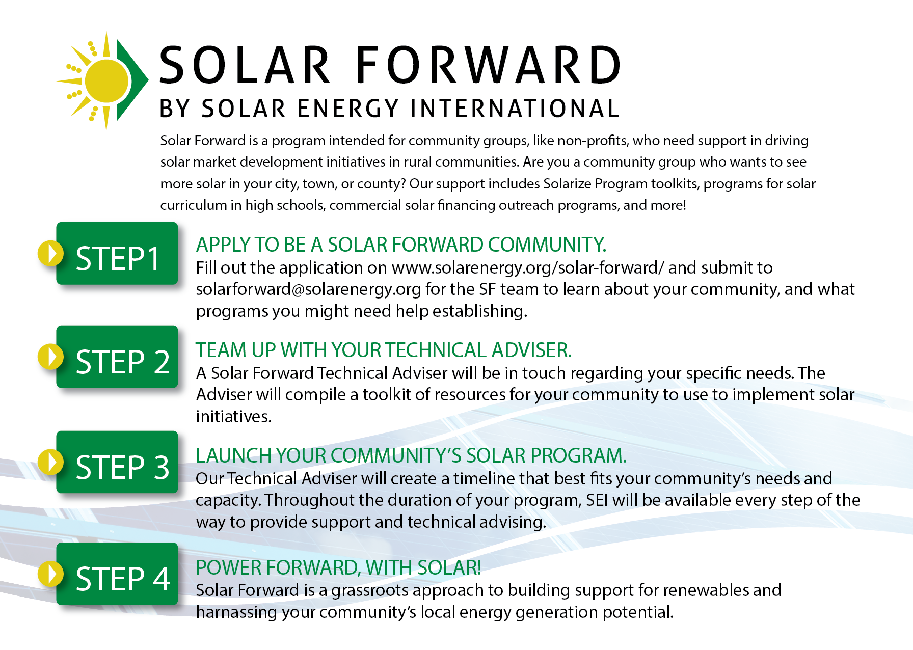 Solar Forward - Solar Training - Solar Installer Training