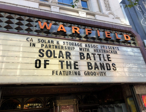 The SEI Solar Sisters String Band rocks out at Solar Battle of the Bands! And other Intersolar updates