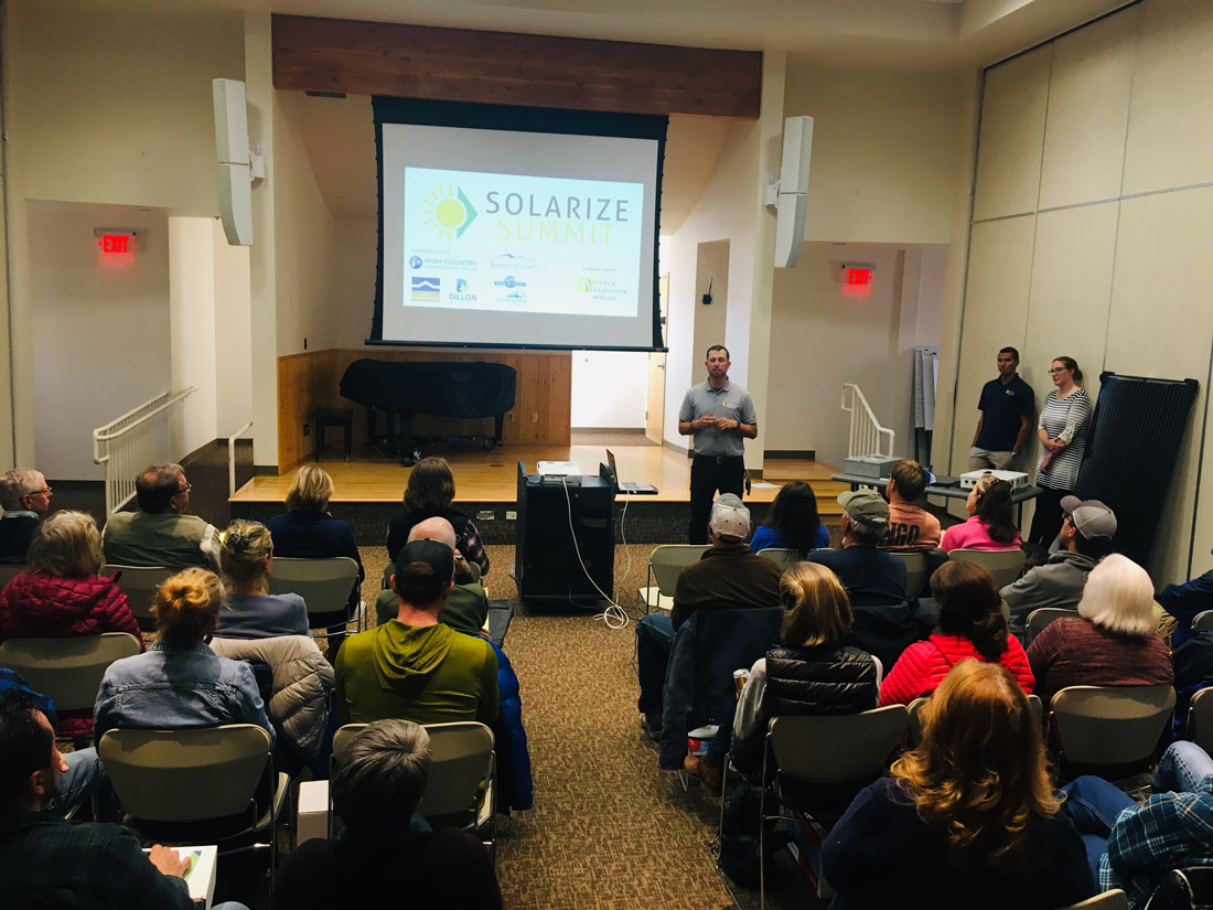 Solar Forward: Successful Summit County Solarize launch, Montrose moves forward with planning process