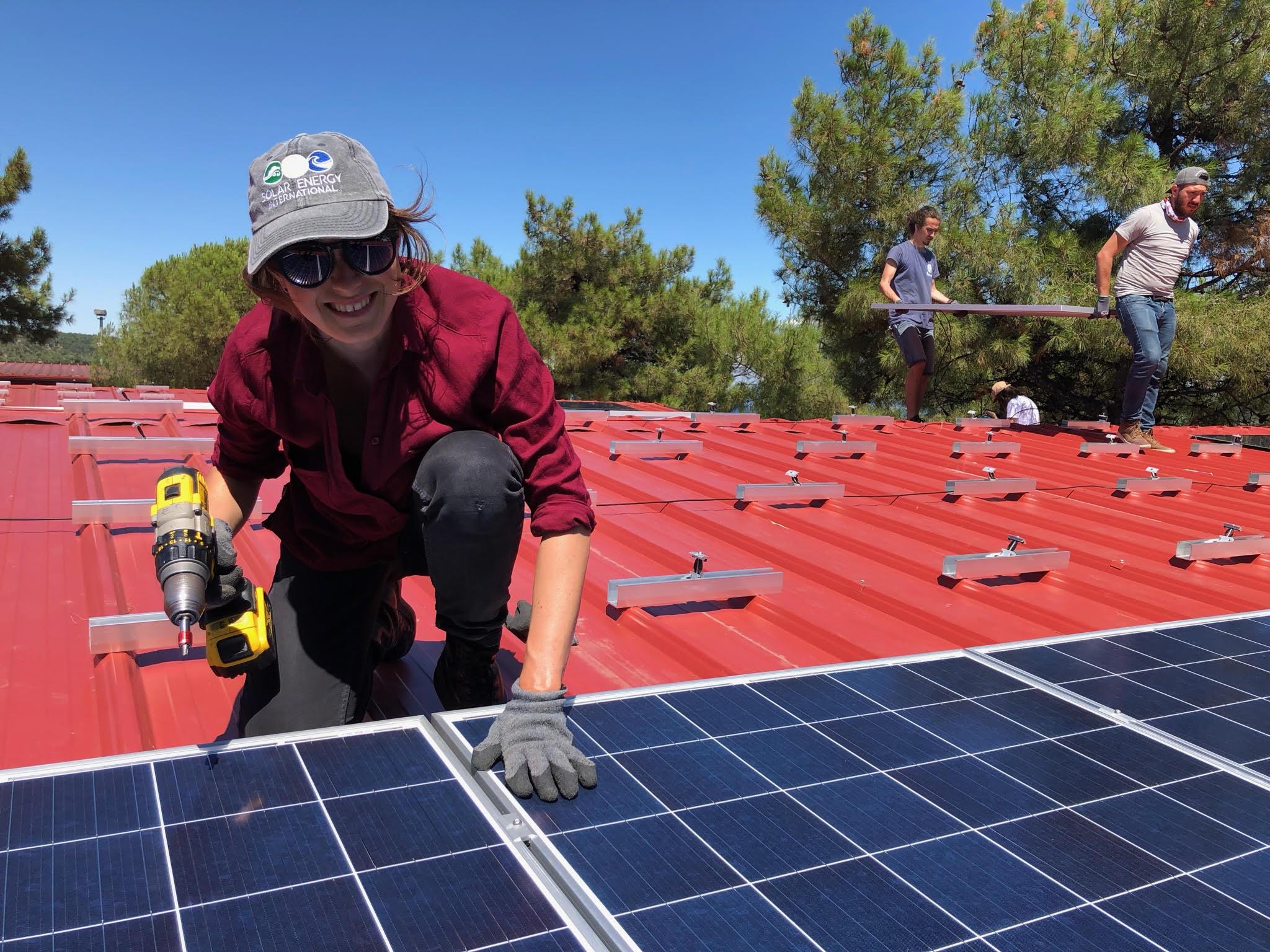 SEI Team Member, Bertram Peterson helped solar power a refugee camp in Greece