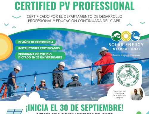 SEI colabora con el Desarrollo Profesional de la Industria Solar en Puerto Rico