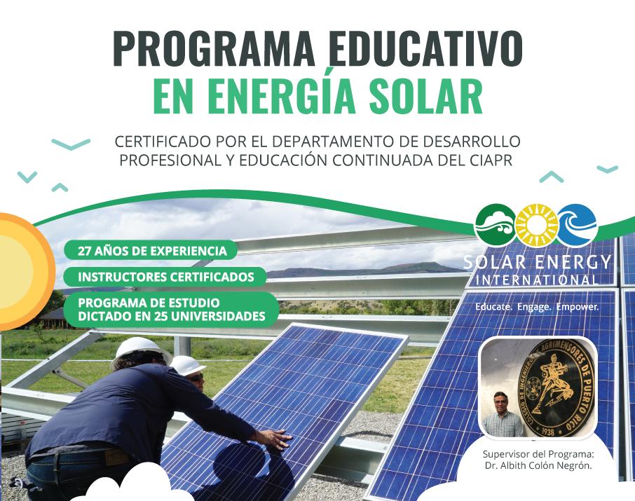 Programa De Certificado Profesional En Energia Fv Archives Capacitacion Para Instaladores Solares Curso De Instalacion De Sistemas Solares Fotovoltaicos Cursos De Energia Solar Educacion En Energias Renovables