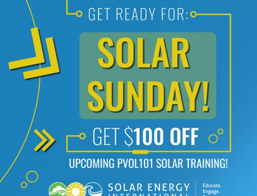 Solar Sunday is coming…
