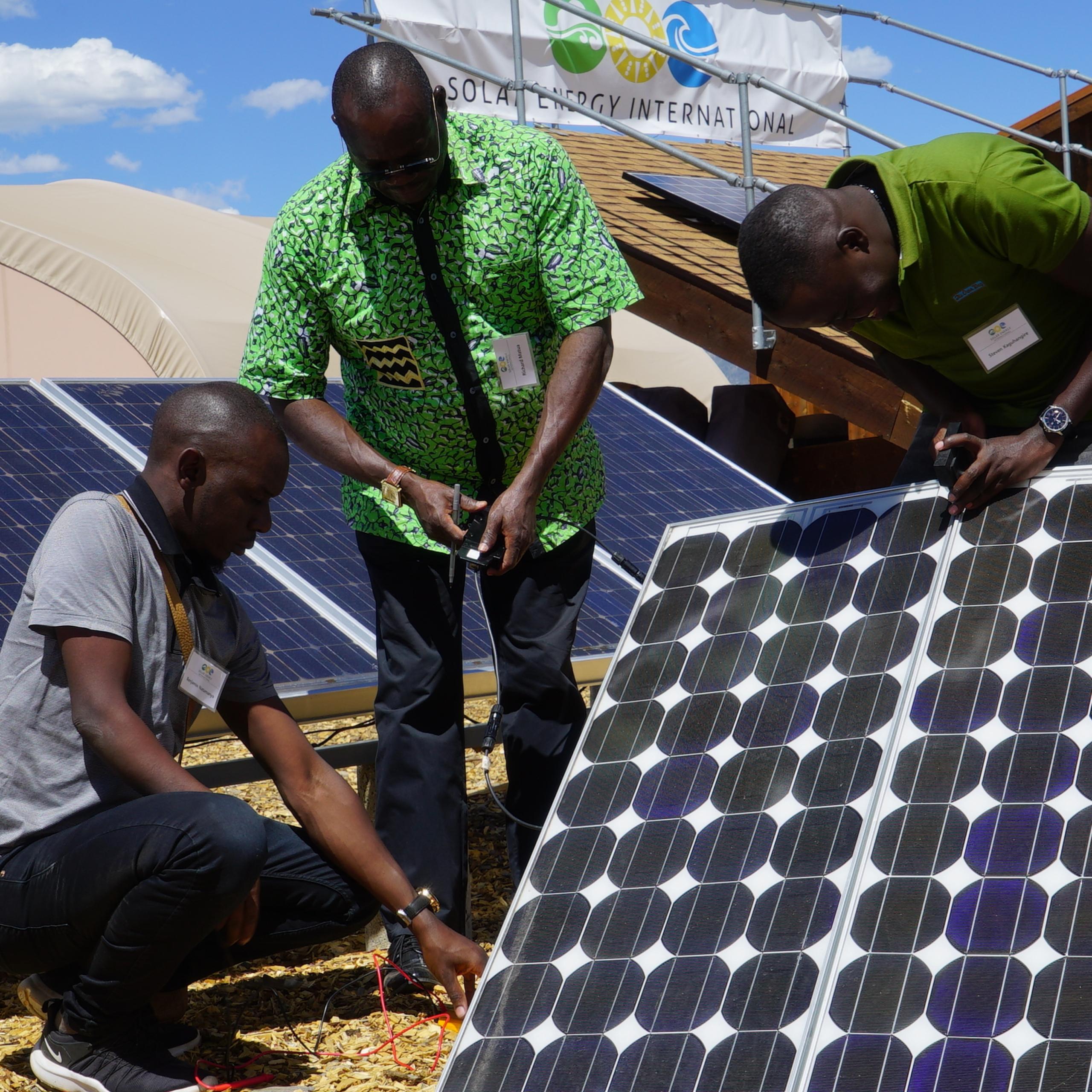 Sei Middle East And Africa Training Program Solar Training Solar Installer Training Solar Pv Installation Training Solar Energy Courses Renewable Energy Education Nabcep Solar Energy International Sei